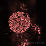 Bunte hängende dekorative Kristallkugel-Lampe mit Solar angeschalten