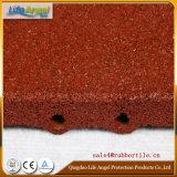 Azulejo de goma al aire libre elástico durable no tóxico, azulejo de suelo de goma