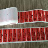 Etiqueta evidente da calcadeira do preço de fábrica com autoadesivo