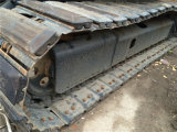 Mini excavador picador usado de KOMATSU PC55mr con la pista de goma