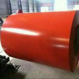 PPGI a laminé à froid la bobine en acier galvanisée pour la feuille de toiture de construction