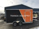 2017 V-Nosed 7X13 Customerized Enclosed Cargo Motorcycle Trailer Rampa e porta lateral