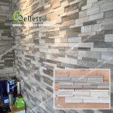 Panneau 3D en pierre de marbre en bois neuf de blanc gris de modèle
