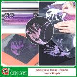 O vinil fácil da transferência térmica de Weed do holograma agradável da fábrica de Qingyi para desgasta