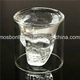Vidro do uísque/copo de cristal condenado da novidade do vidro de vinho do tiro da vodca da cabeça do crânio do tiro Glass/Crystal do crânio