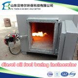 piccolo inceneratore residuo medico del combustibile diesel 10-30kgs/Time, guida del video 3D