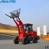 地球移動機械1tonトラクターの販売のための小さいローダーの前部ローダー