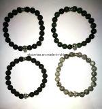 Halb kostbarer Stein-Buddha-Schädel-Armband