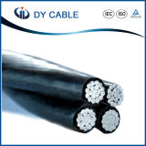 Cable liado aéreo Twisted del ABC del cable de los gastos indirectos de la fábrica