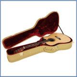 木の作られた標準的なベースギターの箱