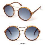 Óculos de sol redondos das mulheres da forma nova com ponte dobro