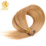 1g / S 100g Human Remy Hair Ash Brown Platina Blonde Straight Custom Capsule Keratin Stick I-Tip Extensões de cabelo humano