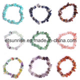 Pedra semi preciosa de cristal natural Amethyst Chips Tumbled Charming Bracelet Jóias