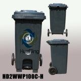 roda de borracha plástica do escaninho de lixo do pedal 100L para ao ar livre