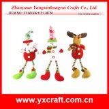 Fabricante de la Navidad de la decoración del árbol del muñeco de nieve de la Navidad de la decoración de la Navidad (ZY11S136-1-2)