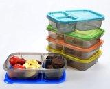 최상, BPA는 3 격실 쌓을수 있는 식사 Prep 콘테이너 재사용할 수 있는 Bento 도시락 부분을 해방한다