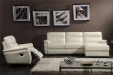 Jogos manuais do sofá do couro do Recliner