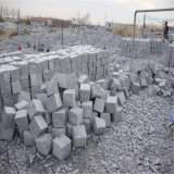 Pedra de pavimentação da construção cinzenta do granito barato