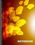 Impression fleurie de cahier de douane de couverture de cahier mignon intéressant