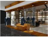 Étalage en bois de commerce de détail de vêtements d'homme de placage