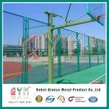 Treillis métallique galvanisé de maillon de chaîne clôturant la frontière de sécurité décorative enduite de maillon de chaîne de PVC
