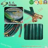 Manguito hidráulico reforzado tejido fibra flexible plástica del tubo de la irrigación del jardín del agua del PVC