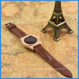 円形のスマートな腕時計サポートアンドロイドおよびIosの心拍数のモニタのステンレス鋼の腕時計