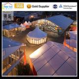Tienda incombustible impermeable de la boda del almacén 500 de las personas de la pagoda de la carpa transparente barata gigante impermeable grande blanca excelente de aluminio enorme de China