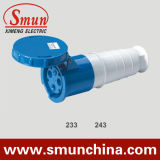 63A 125A Blue 3pin Mobile Socket, Cee Industrial Socket IP67, PA66 220-415V