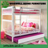 Weißes Kiefernholz-Haus scherzt Bett-Rahmen-hohes Koje-Bett