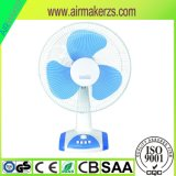 16 Zoll-nachladbarer Ventilator mit LED-hellen Tisch-Oberseite-Ventilatoren