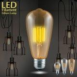 型LEDエジソンのフィラメントの球根St64の穂軸LEDランプE27