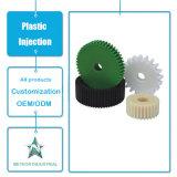 Kundenspezifische Plastikprodukt-Bauteil-Autoteil-Maschine zerteilt Plastikgang-Rad-Spritzen