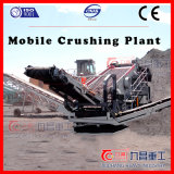 Planta de pedra de esmagamento móvel do triturador do cone do minério da rocha da máquina