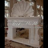 Binnen Marmeren Open haard mfp-1023 van Carrara van het Graniet van de Steen Witte