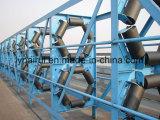 十分に密封された管状のゴム製管のベルト・コンベヤー