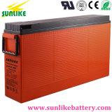batería Telecom terminal delantera solar recargable 12V200ah con la vida 12years