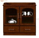 Gabinete de madeira do escritório do folheado do chá lateral do armazenamento (HY-512)
