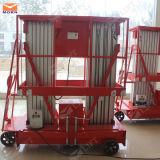 piattaforma di alluminio idraulica dell'elevatore del doppio albero 10m