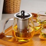Высокий чайник сопротивления 700ml алкалиа стеклянный с Infuser