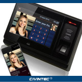 Sistema avançado biométrico do controle de acesso da tabuleta Android de NFC RFID com bateria e a câmera alternativas