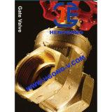 API/DIN 수동 핸들 압력 질 금관 악기 청동색 스레드 게이트 밸브