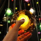 Moderne Anhänger-Licht der Meteor-Dusche-bunte magische Kugel durchgebranntes Glasluftblasen-12V G4 LED