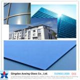 O azul/cor/matizou o flutuador/vidro reflexivo endurecido para o edifício