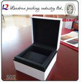 Contenitore di imballaggio impaccante della visualizzazione del regalo dell'imballaggio della vigilanza di caso di memoria della vigilanza del documento di cuoio del velluto del contenitore di vigilanza del legno (YS93)