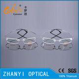Monocolo di titanio Semi-Senza orlo Eyewear del blocco per grafici di vetro ottici di modo senza orlo leggero con Hyperelastic (1505-EW)