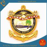 L'enjeu antique de souvenir de marine d'OEM commémorent la pièce d'or militaire