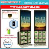 Quiosque cobrando livre do telefone de pilha do indicador do LCD do Signage de Digitas da alameda de compra do aeroporto multi