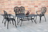 全天候用青銅色の黒く白いエリザベスのヨーロッパ式の頑丈な鋳造アルミの屋外の庭の家具