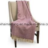 Сплетенное одеяло хода шерстей девственницы Dobby чисто